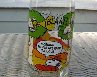 1965 Vintage McDonald's Camp Snoopy Glass