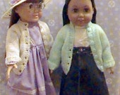 006-8 button knit cardigan for american girl dolls