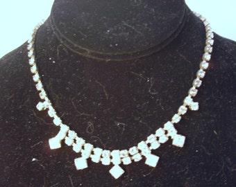 15 Inch Rhinestone Single Strand Necklace