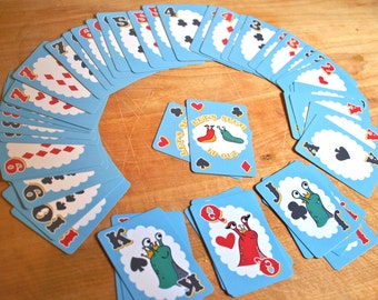 Let's Slug it Out cute playing cards