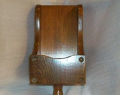Wood Scoop Candle Sconce 12 x 5 inches vintage 80s
