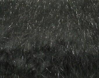 Third Yard Black Sparkle Fur Shag