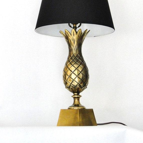 Vintage lampe große ananas messing beleuchtung von belateddesigns