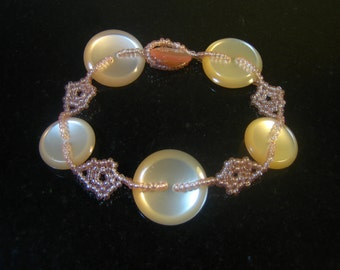 Peaches and Pearls Bracelet