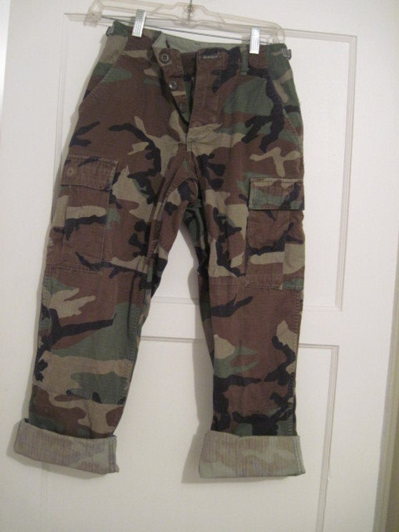 army fatigue camouflage high waisted baggy