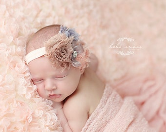 Baby Headband, Baby Shower Gift, Newborn Headband, Baby Flower Headband, Newborn Gift, Toddler Headband, Infant Headband, Peach Headband