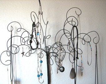 Wall Mounted Jewelry Organizer, Jewelry Tree Display Wire Wall Mount  , Earring, Rings,Bracelets, Organizer, Display