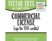 Commercial Use License for Vector Cut Files