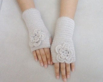 Stone Color Gloves arm warmers Mittens Winter Gloves Mittens Accessories Beige Gloves women accessory women gloves gift for her