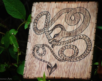 Norse Dragon Wood Burning.