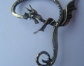 Bronze Winged-Dragon Ear Cuff