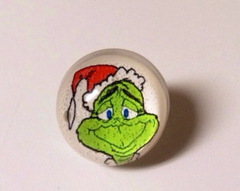 Grinch Ring - Christmas Ring - Christmas Jewelry - Grinch - Snow Globe Ring - The Grinch - Christmas