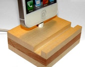 "Iphone 5 5S 5C dock - stand - docking station - ""RedGrass"" - stylish iphone charging station, order AsAp to get for Christmas"