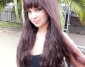 Warm Brown / Long Wavy Layered Wig