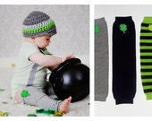Baby Lucky Charm Clover Leg Warmers Saint Patricks Day, Photo Prop, Pick your own, Unisex