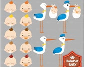 Buy 2 Get 2 Free ---- Baby Clip Art ---- Personal and Small Commercial Use ---- BB 0453