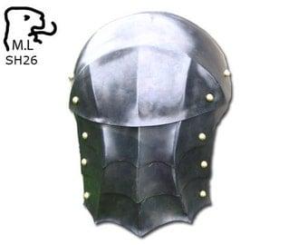 New Medieval pair of pauldron in steel Armor Larp SH26