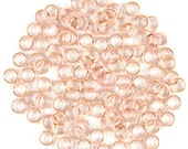 20ga 3.0mm Rose Gold 30 rings Handmade Jump Rings