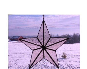 3D star in CHAMPAGNE colored stained glass window display  and/or  Christmas tree topper