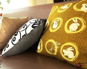 Pillow cover, pillow case, rabbit, bunny, cozy, cotton, home, house, decor, decoration, zipper, girl, boy, japan, japanese, living, room