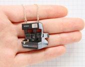 Polaroid Camera Laser Cut Necklace