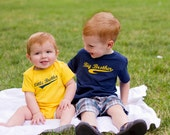 Big Brother and Little Brother T-shirt or Baby Bodysuit set