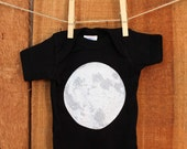 Black Moon baby bodysuit