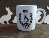 Adorable French Vintage Rabbit (Le Lapin) Bistro Mug