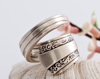 Vintage Spoon Ring - Gracious Silverware Spoon Ring - Spoon Jewelry - Spoon Ring - Silverware Jewelry - Silverware Spoon Ring  (mcf  R102)