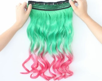 Watermelon Clip In Heat Friendly Hair Extensions