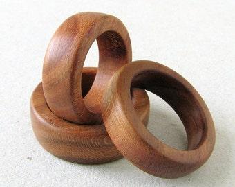 Wooden ring plum FOREST MAIDEN ii