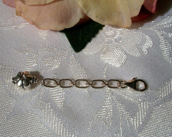 Sterling Silver Bracelet Extender with Silver Bead - Perfect for Your too-short Bracelet - Adjustable for a Perfect Fit