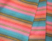 Aztec Fabric, Peruvian Fabric, Woven, Peach Salta Stripes, 1 Yard