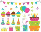 Clipart - Birthday Party - Digital Clip Art (Instant Download)