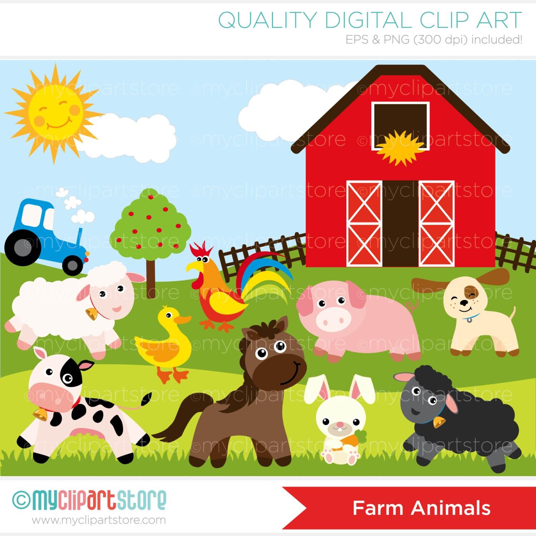 Clipart Old Mc Donnald / Farm Animals Digital Clip ArtClip Art Pictures Of Farm Animals