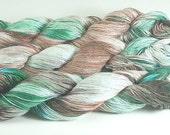 Yarn Hand Dyed Cotton Rayon Green Brown Cream Tan  Rust 2425