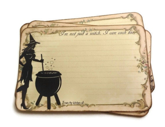 funny witch recipe cards halloween recipe cards spell recipe