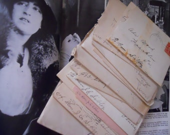 Miss Adda's Victorian Letters Antique Handwritten Correspondence from 1890s- 1900s