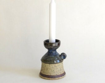 Vintage Scandinavian Pottery Candle Holder from Bornholm