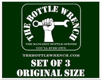 SET OF 3 - The Bottle Wrench Bottle Opener - All Original Size