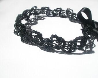 some items  10 dollar sale only today  - convo me -Black crochet  Headband,Boho Forehead Headband for Everyone
