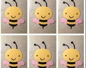 Girl Bumble bee die cuts (set of 6)