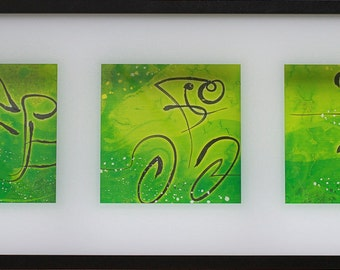 Triathlon Green Triptych