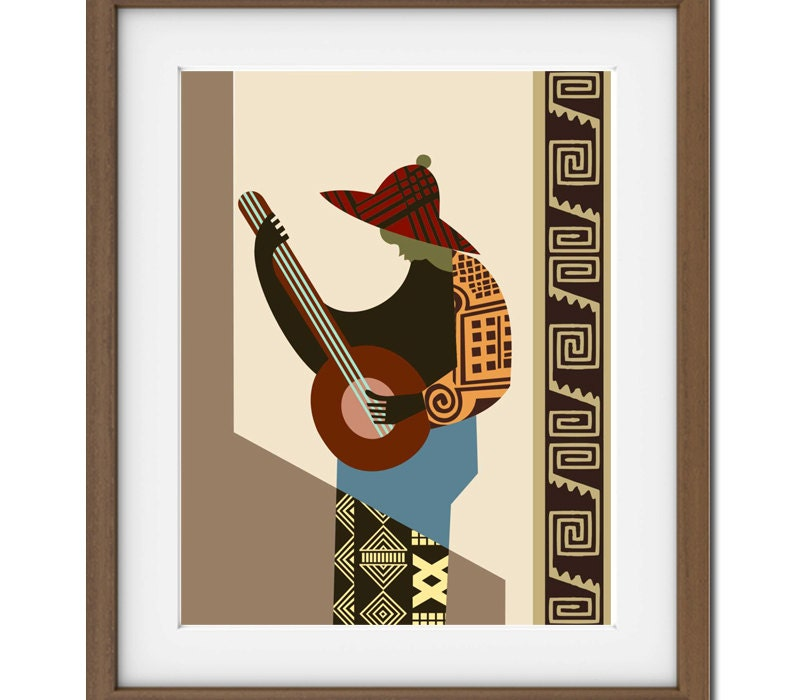 African painting african print african artwork african for African wall art