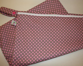 SALE Large Cloth Diaper Wetbag Pink Diamonds