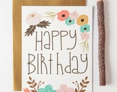 Birthday card - Greeting Card - Note Card - Cards