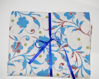 Pack n Play Sheet - Fitted Cotton Playard Sheet -  Blue