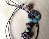 Turquoise With Rabbit Bead Necklace
