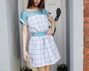 A 'Columbia' Coloured Check Dress