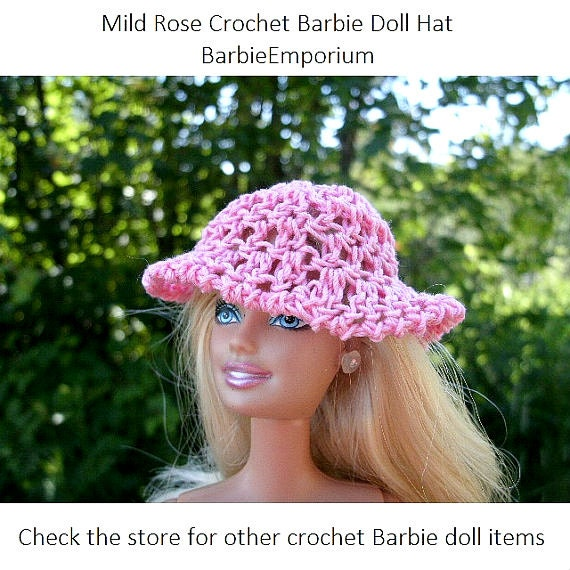 Free Crochet Patterns For Barbie Hats : Custom Order for colrol Shipping on Feb 3rd by BarbieEmporium